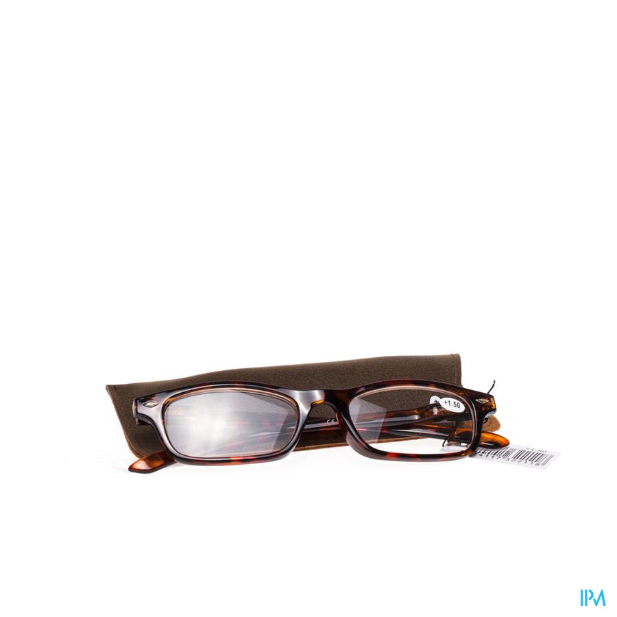 Pharmaglasses Leesbril Diop.+1.50 Brown