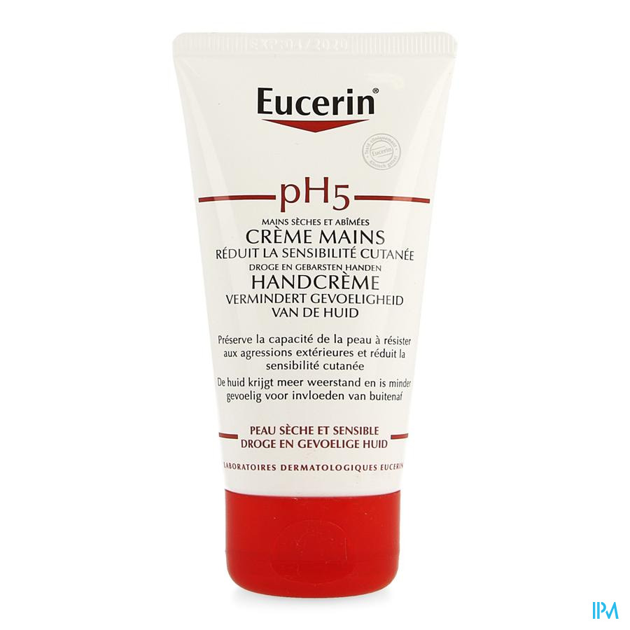 Eucerin Ph5 Peau Sensible Creme Mains 75ml