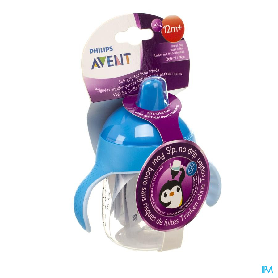 Philips Avent Gobelet Anti Fuite Pinguin Bleu 260ml SCF753/05