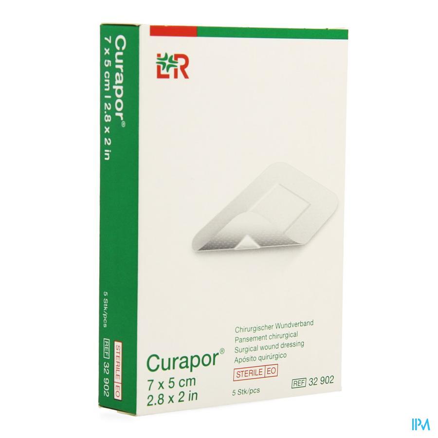 Curapor Verband Chirurg. Steriel 7cmx 5cm 5 32902
