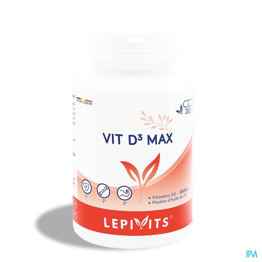 Lepivits Vit D3 Max 3000ui Caps 30