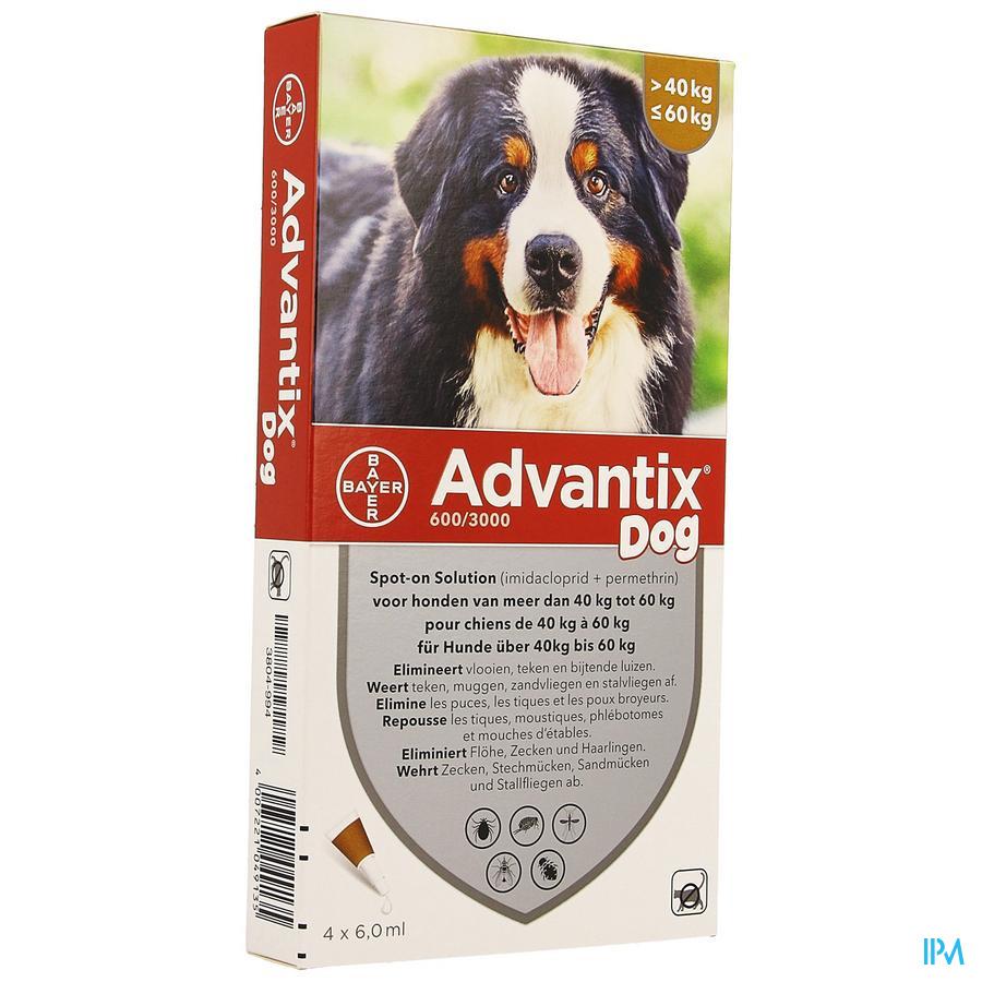 Advantix Dog Spot-on Oplossing Hond 40-60kg et 4x6 ml