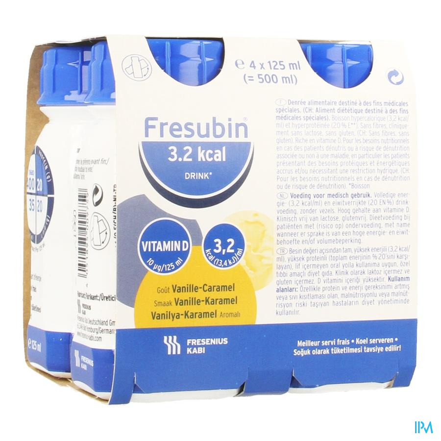 Fresubin 3,2kcal Drink Vanil.-caram. Easyb.4x125ml