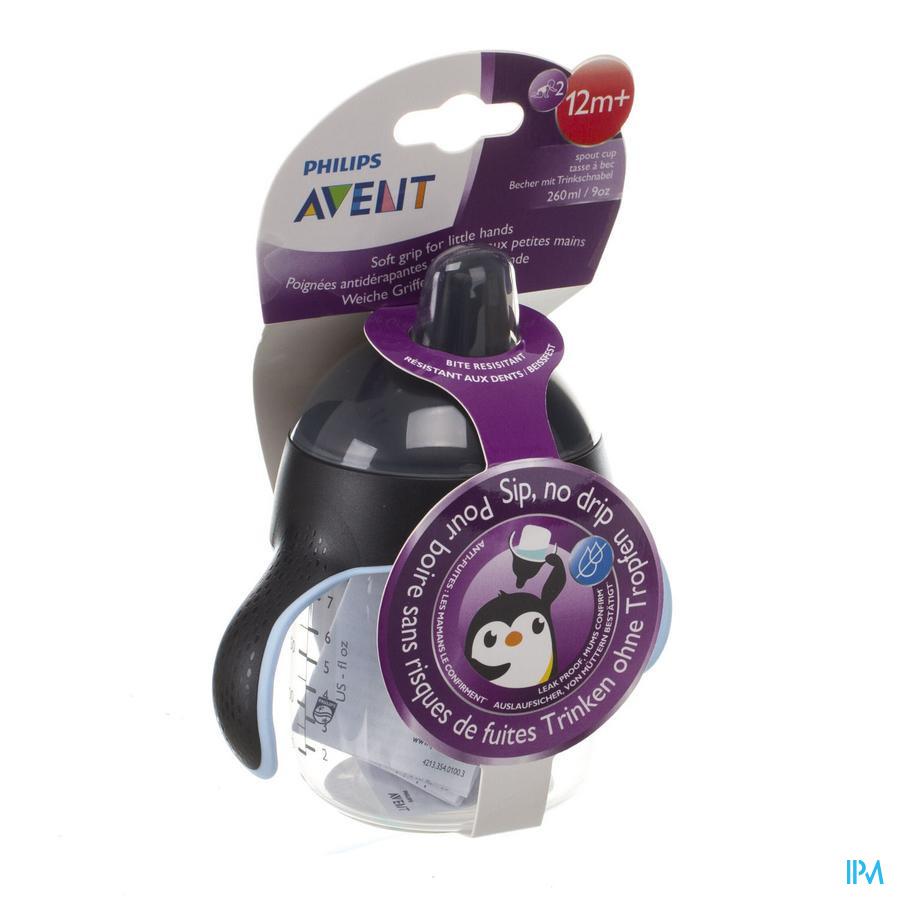 Philips Avent Gobelet Anti Fuite Pinguin Noir 260ml SCF753/03