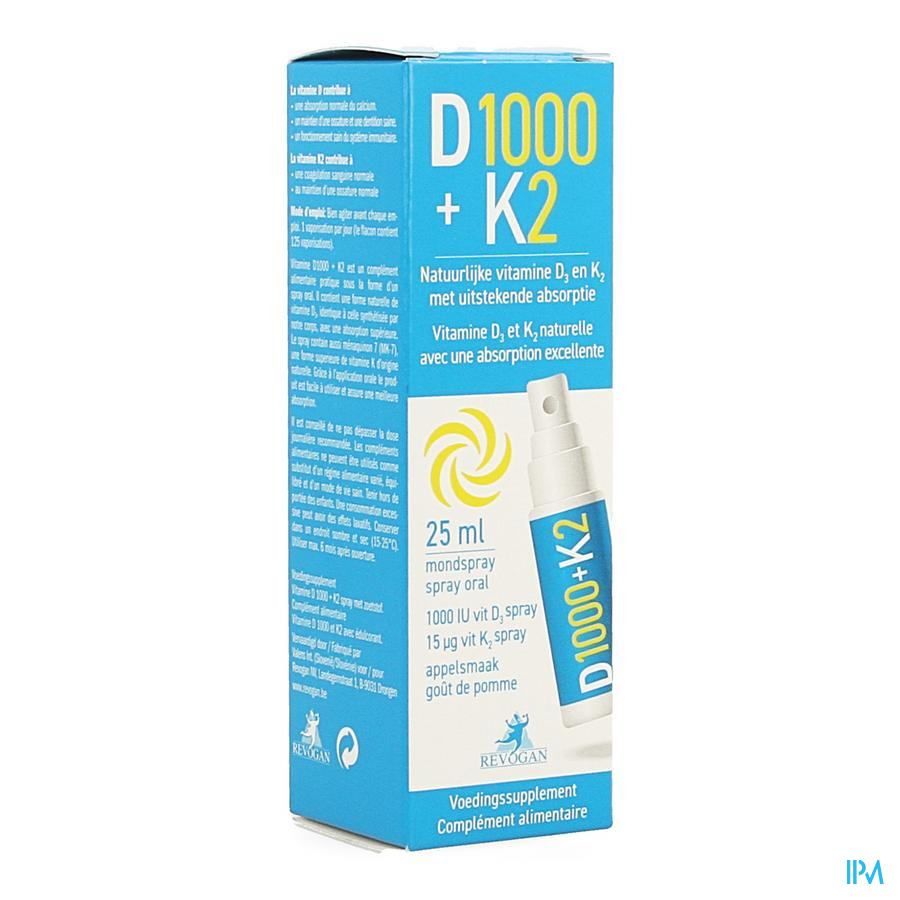 Revogan Spray Vitamine D + K2 25ml