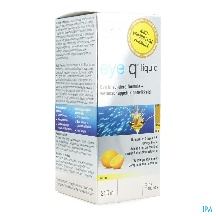 Eye Q Omega 3/6 Epa Citrus Springfield 200ml