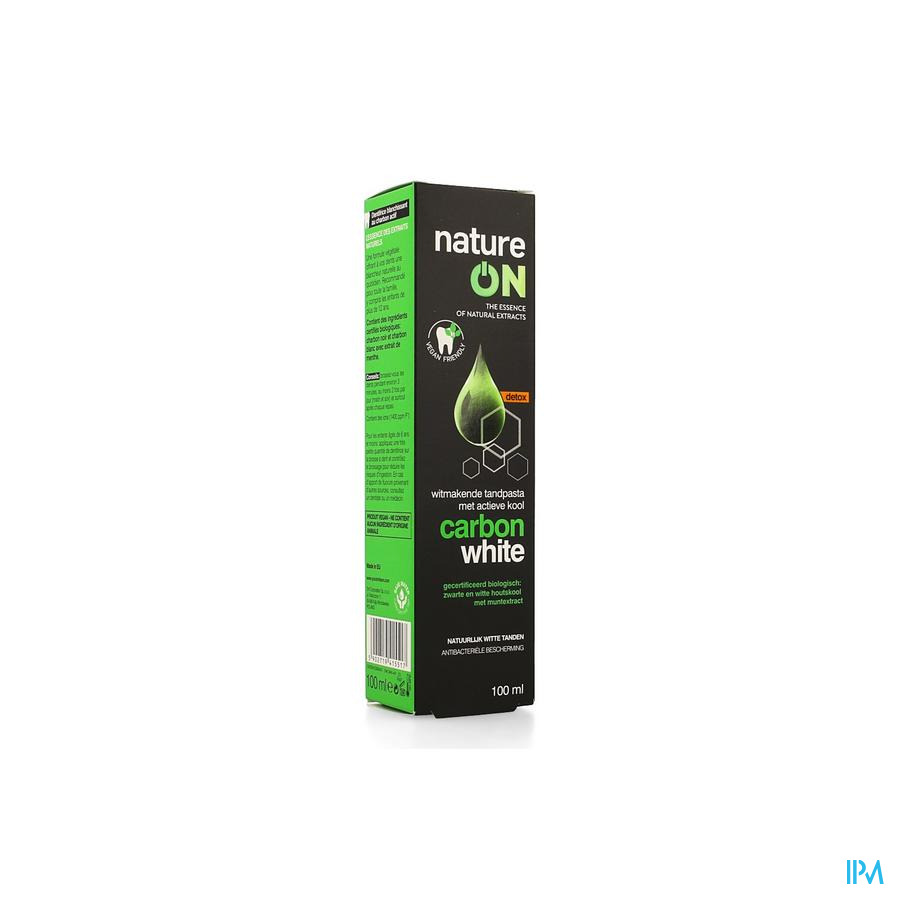 Nature On Carbon White Tandpasta 100ml