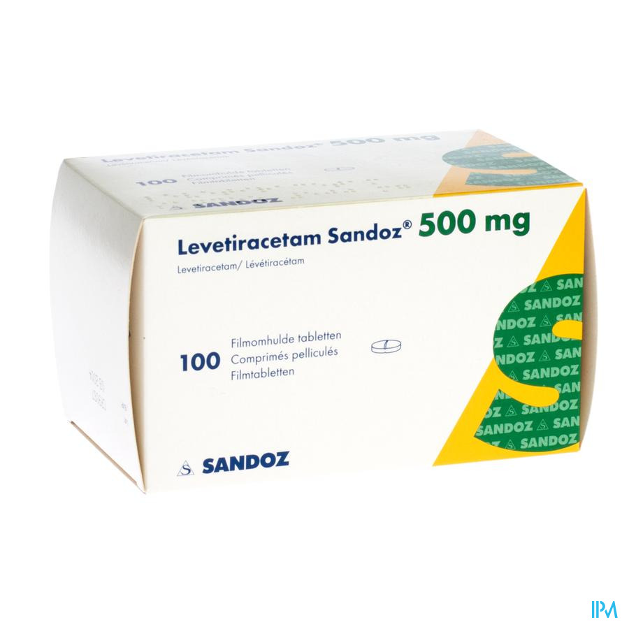 Levetiracetam Sandoz Comp Pell 100 X 500mg