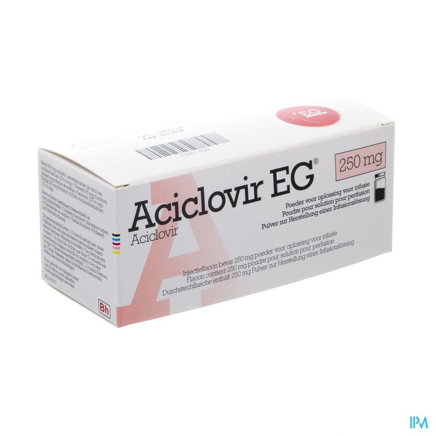 Aciclovir Eg 250 Mg Pulv Sol Iv Inf Fl 1