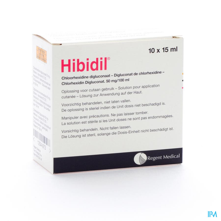 Hibidil Sol 10x15ml Ud Bottelpack