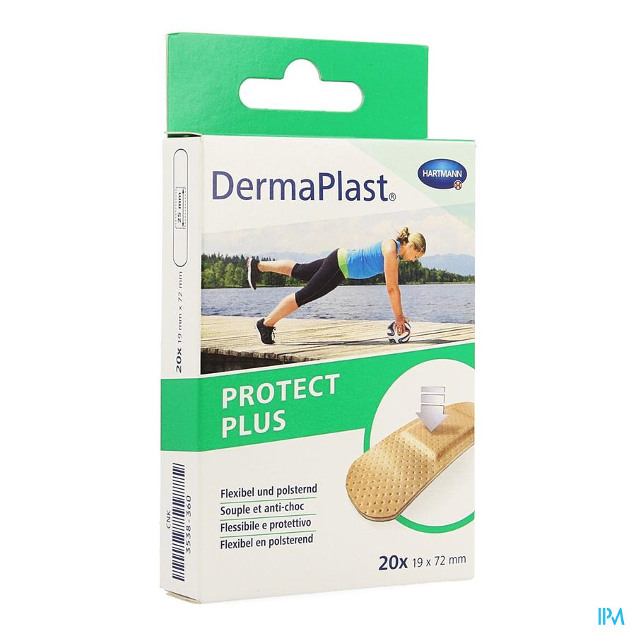Dermaplast Protect Plus 19x72mm 20