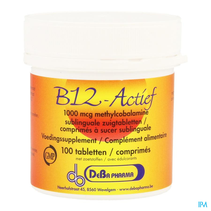 Vitamine B12 1000mcg Methylcobalamine Zuigtabl 100