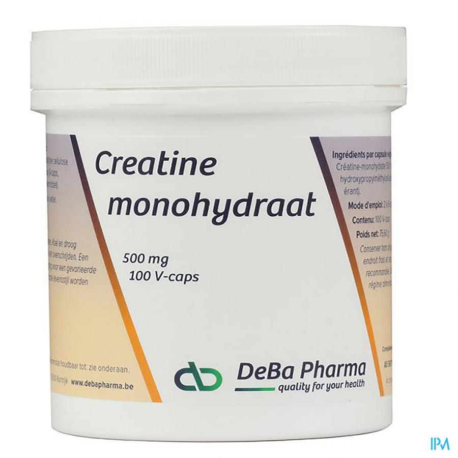 Creatine Monohydraat Caps 100x500mg Deba