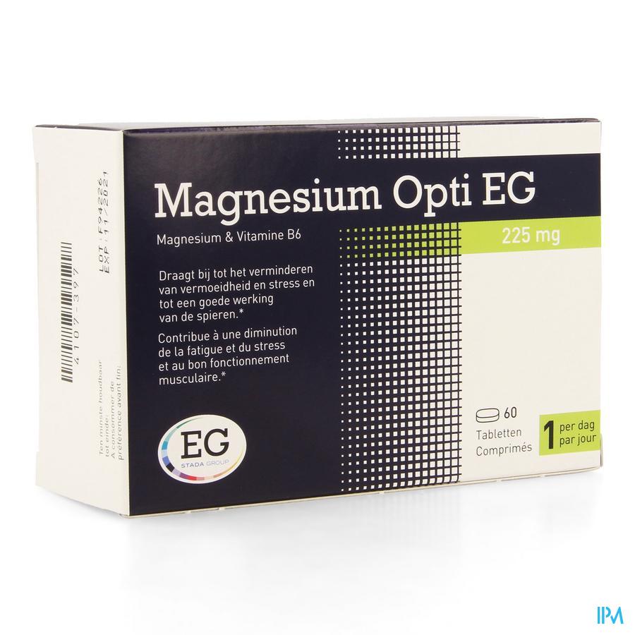 MAGNESIUM OPTI EG 60 TABL 225 MG