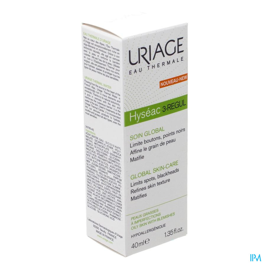 Uriage Hyseac 3-regul Globale Verzorging Cr 40ml