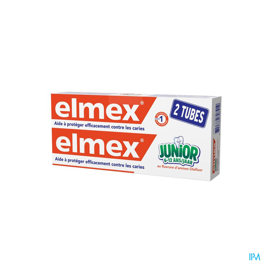 DENTIFRICE ELMEX® JUNIOR TUBE 2x75ML