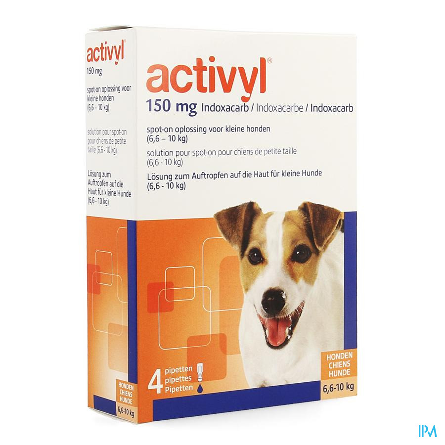 Activyl Spot-on Sol. Petit Chien Pipet 4x150mg