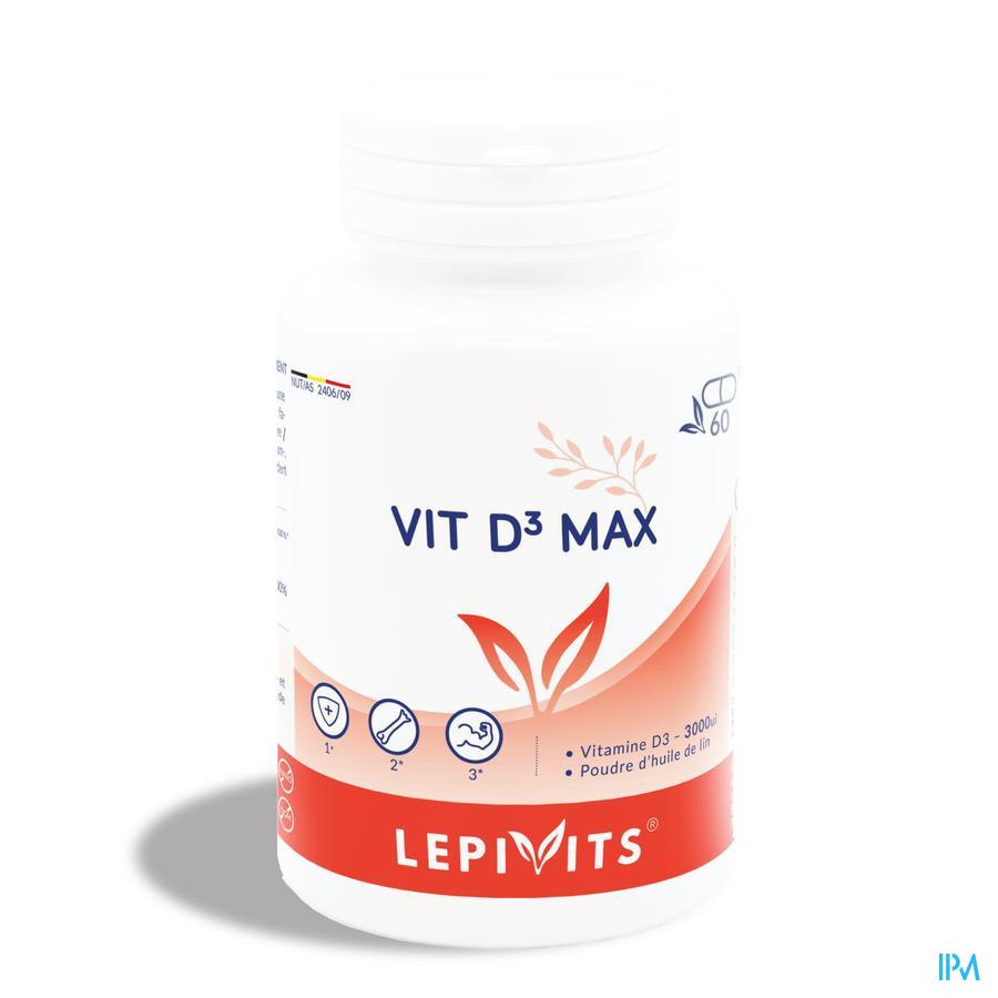Lepivits Vit D3 Max 3000ui Caps 60