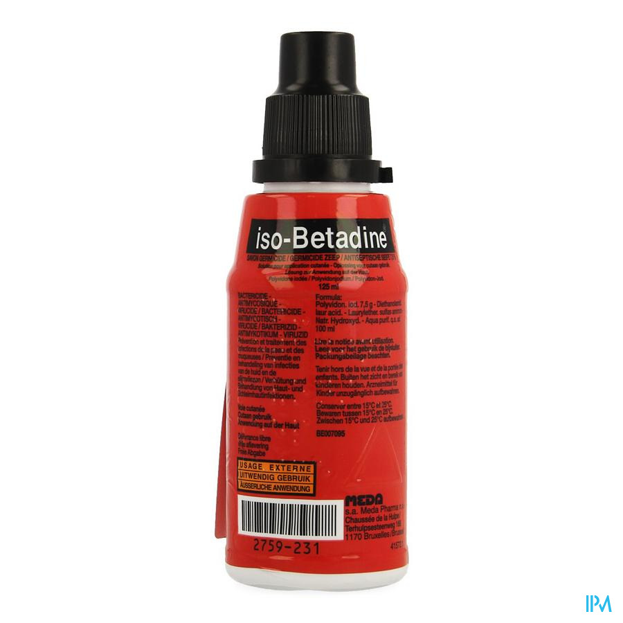 Iso Betadine Germicide Zeep 7,5% 125 ml