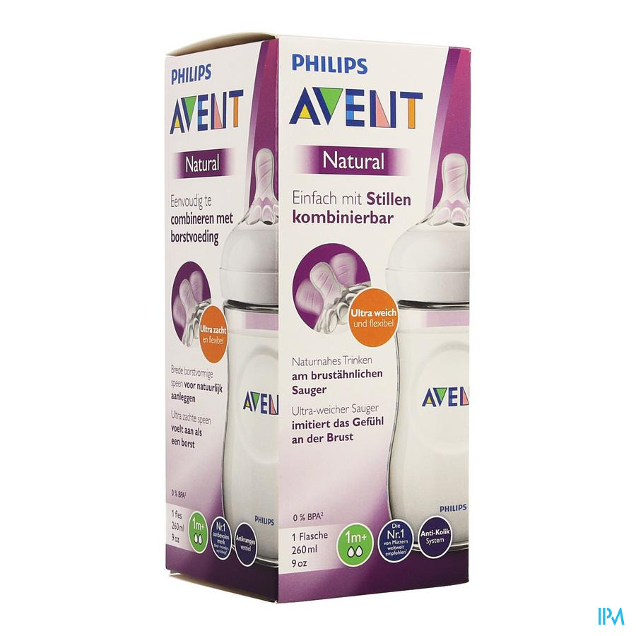 Philips Avent Natural 2.0 Zuigfles 260ml SCF033/17