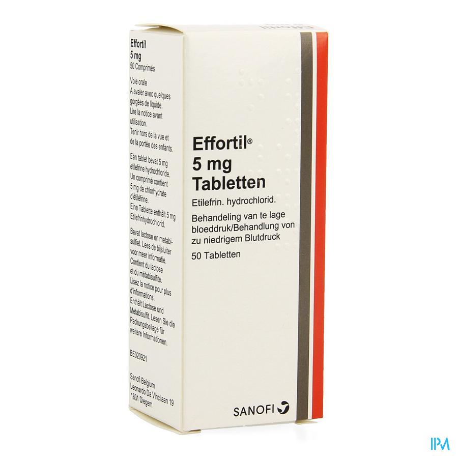 Effortil Voor Behandeling Van Te Lage Bloeddruk 50 Tabletten
