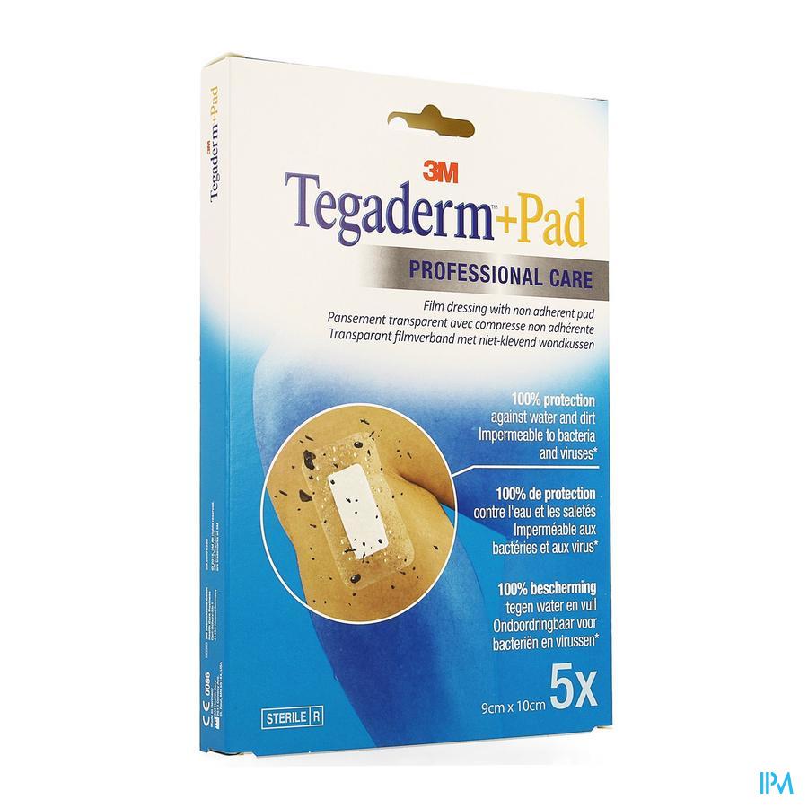 Tegaderm + Pad 3m Transp Steril 9cmx10cm 5 3586p