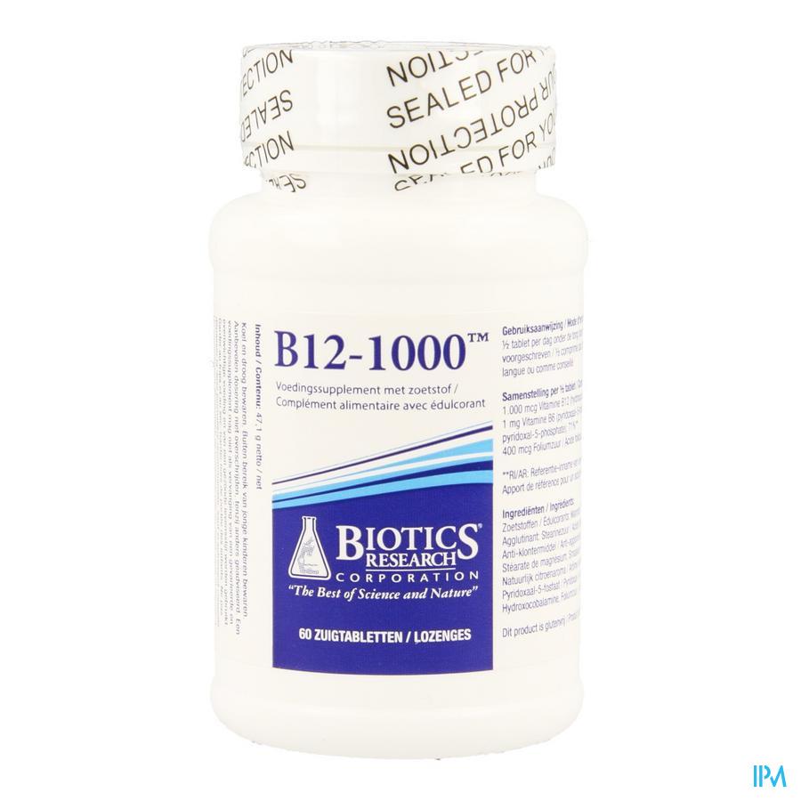 B12-1000 Biotics Lozenges Met Zoetstof