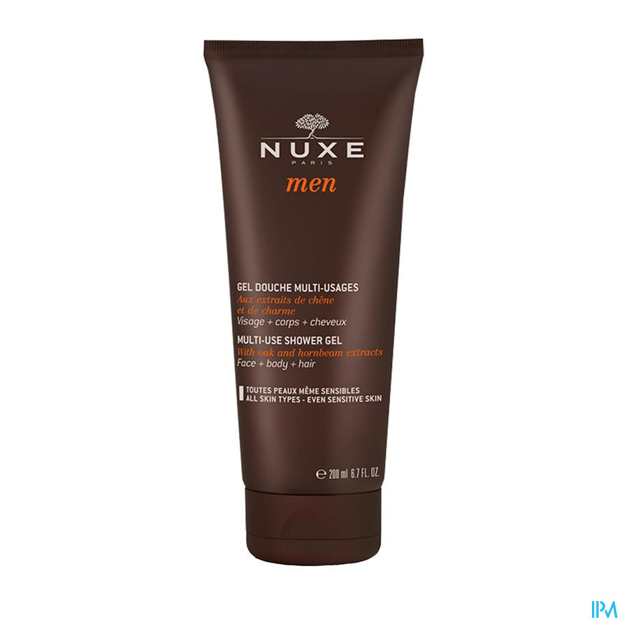 Nuxe Men Douche Gel Multi Gebruik Duo Tube 2x200ml