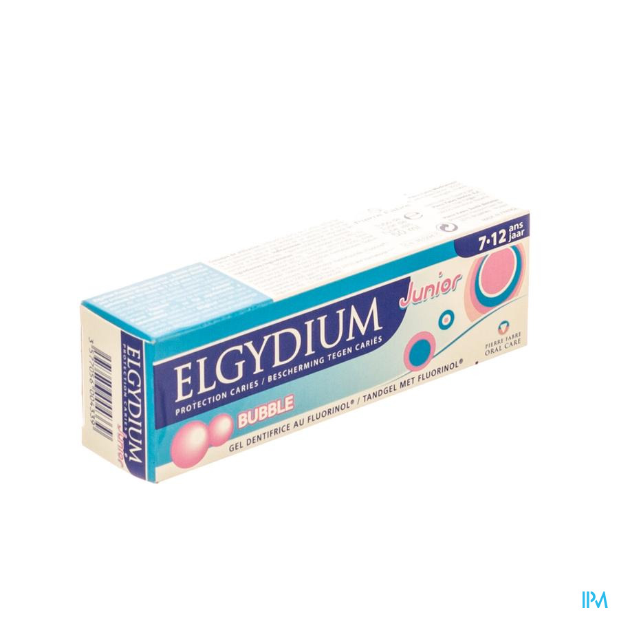 ELGYDIUM JUNIOR TANDPASTA BUBBLE 7-12J TUBE 50ML