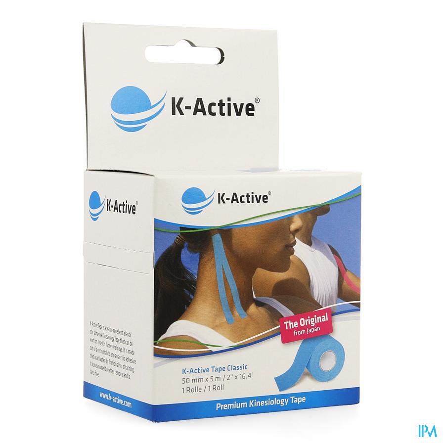 K-active Tape Blue 5,0cmx5m kopen doe je voordelig hier