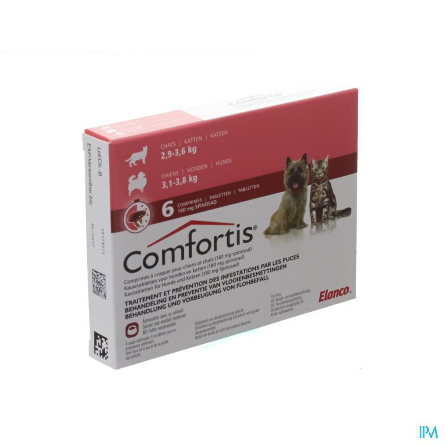 Comfortis 180mg Hond Kat Kauwtabletten 6