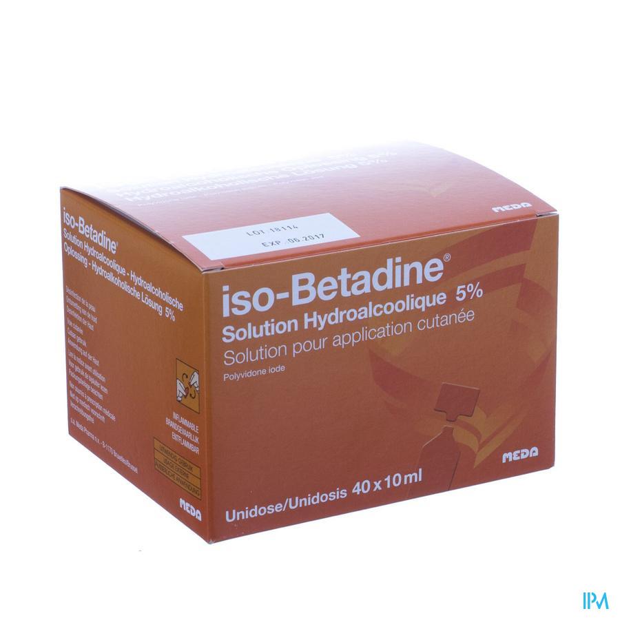 Iso Betadine Sol Hydroalcol Unidose 40x1