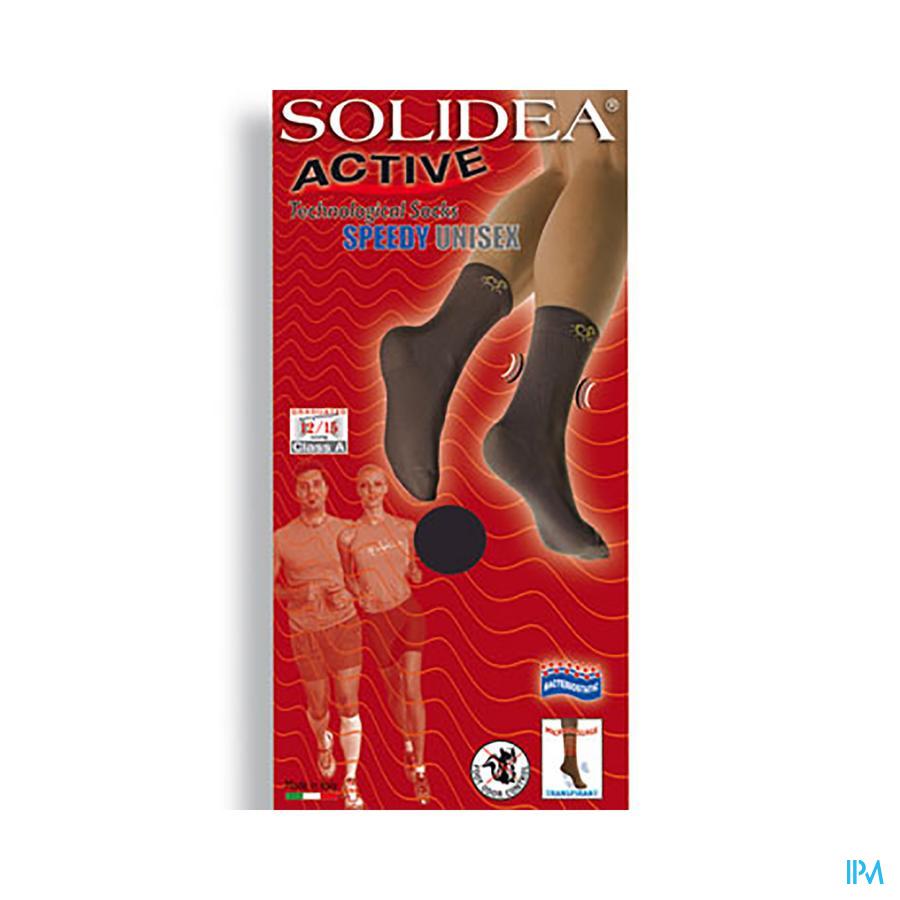 Solidea Sok Active Speedy Unisex Nero 5-xxl