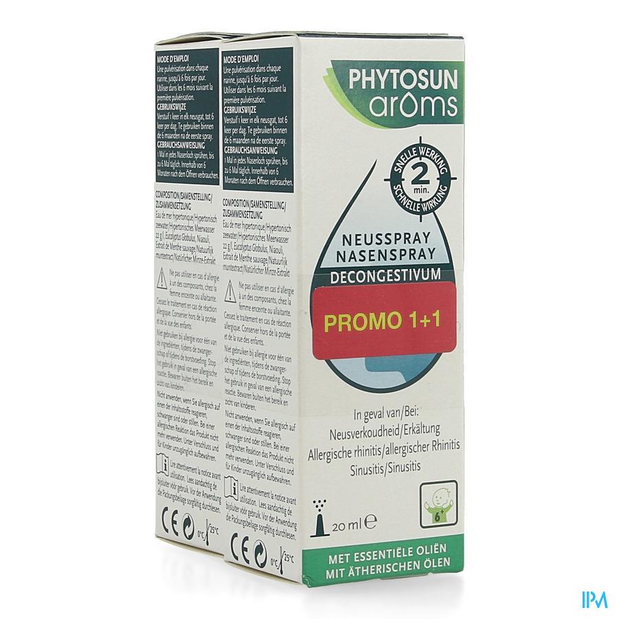 Phytosun Neusspray Decongest. 20ml Promo 1+1