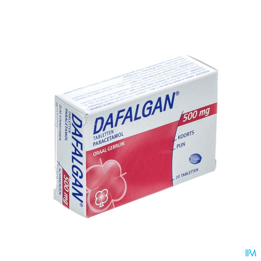 DAFALGAN 500 MG SEC COMP 20