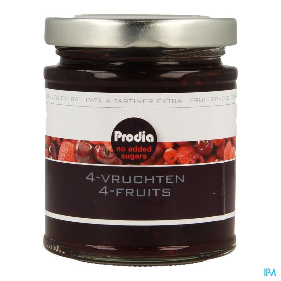 Prodia Broodbeleg 4 Vruchten + Maltitol 300g 6189