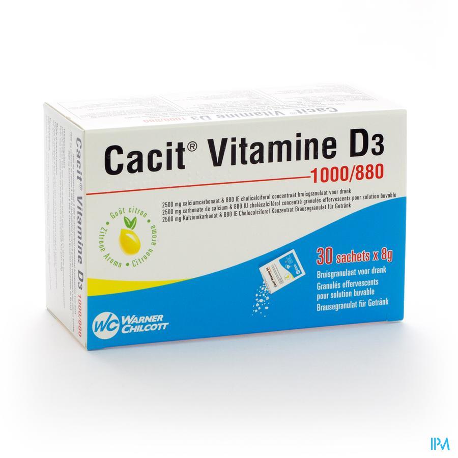 CACIT VIT. D3 1000/880 SACH GRAN 30