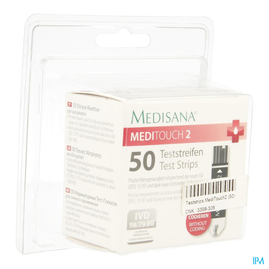 Medisana Medi Touch2 Test Strips 50