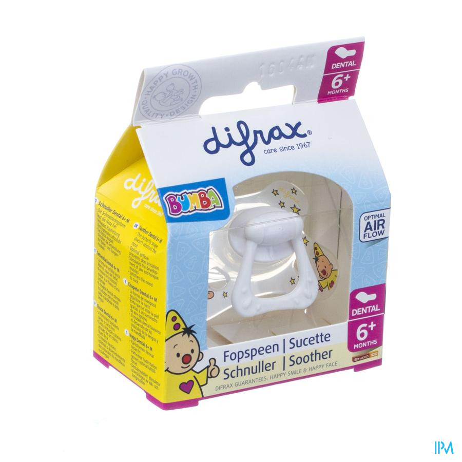 Difrax Fopspeen Dental 6+ Bumba