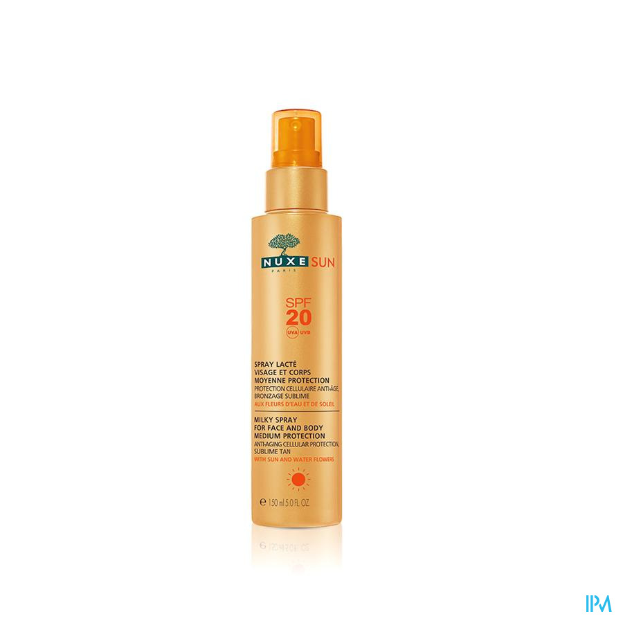 Nuxe Sun Spray Lacte Visage-corps Ip20 Fl P.150ml