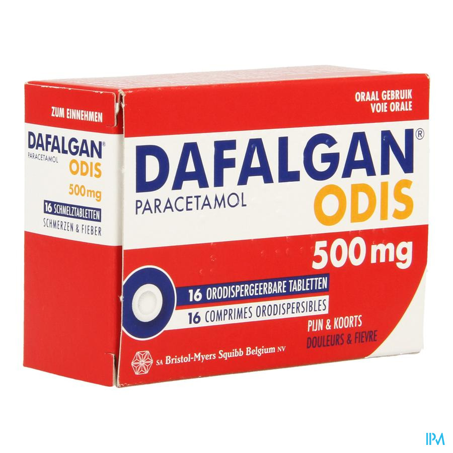 Dafalgan 500 mg Odis Tabletten 16