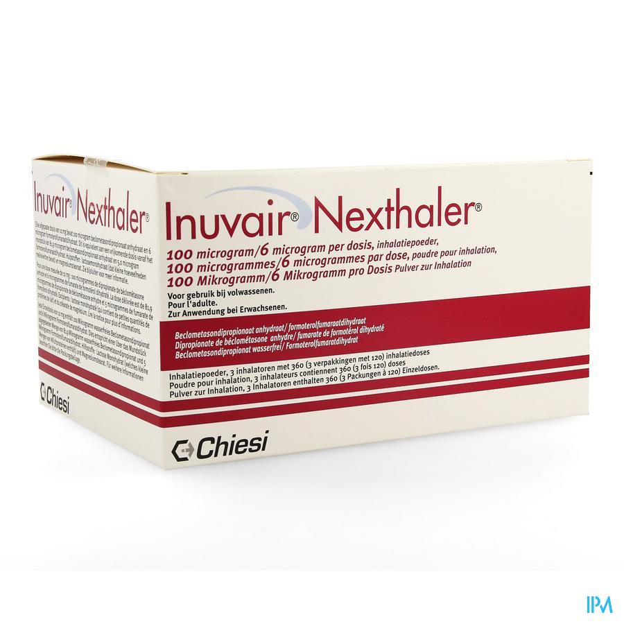 Inuvair 100/6mcg Nexthaler Doses 3x120