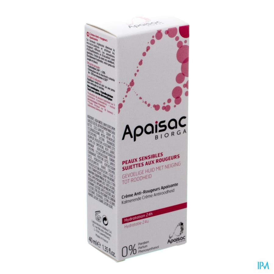Apaisac Biorga Creme A/roodheid Verzacht.tube 40ml