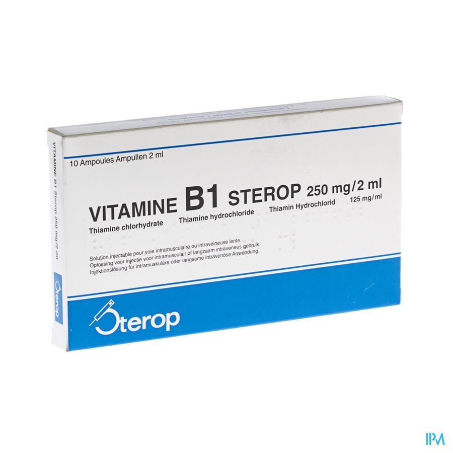 Vit B1 Im/iv Amp 10 X 250mg/2ml