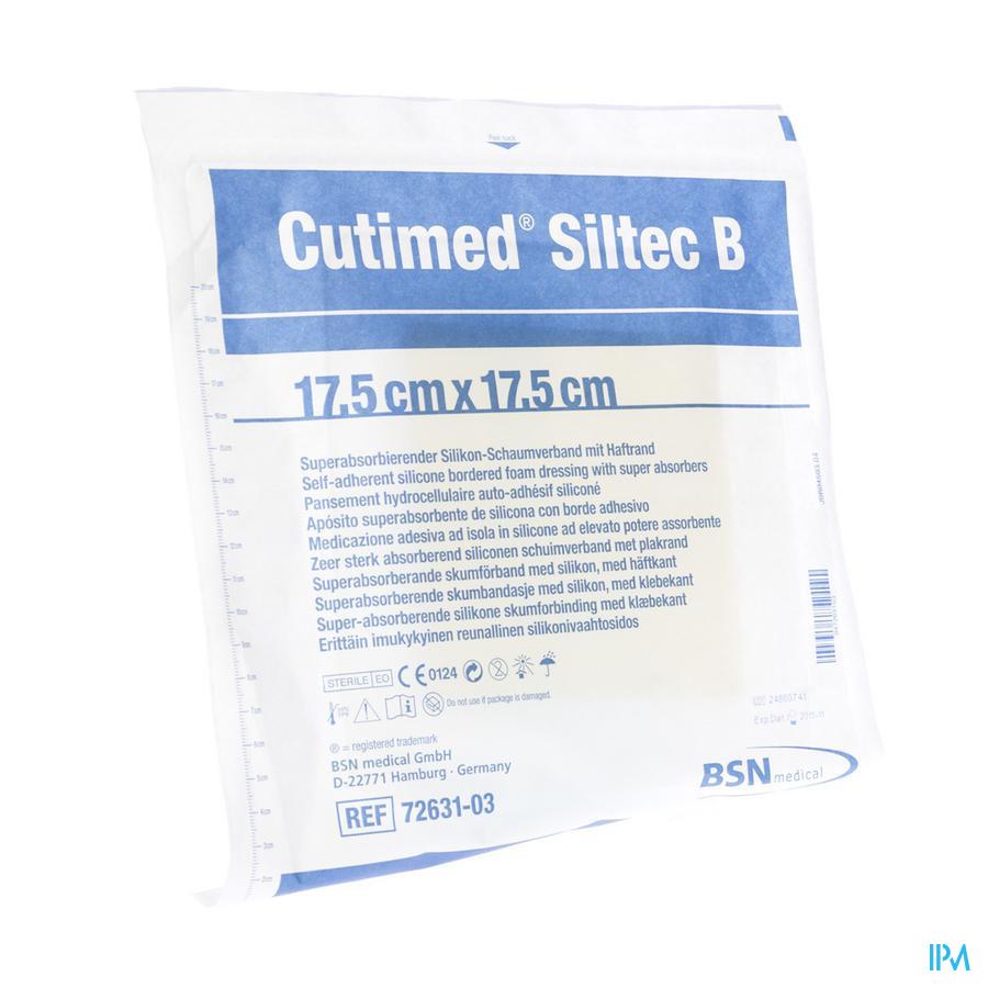 Cutimed Siltec B Kp Steriel 17,5x17,5cm 1 7328403