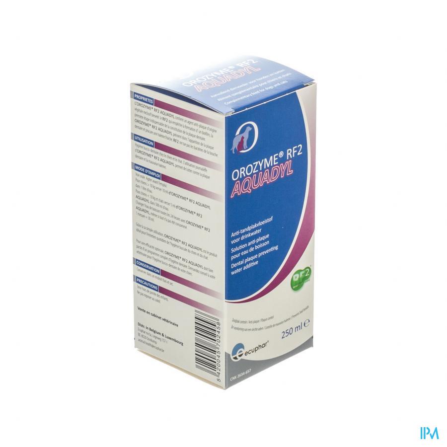 OROZYME RF2 AQUADYL A/TANDPLAK HOND-KAT 250ML