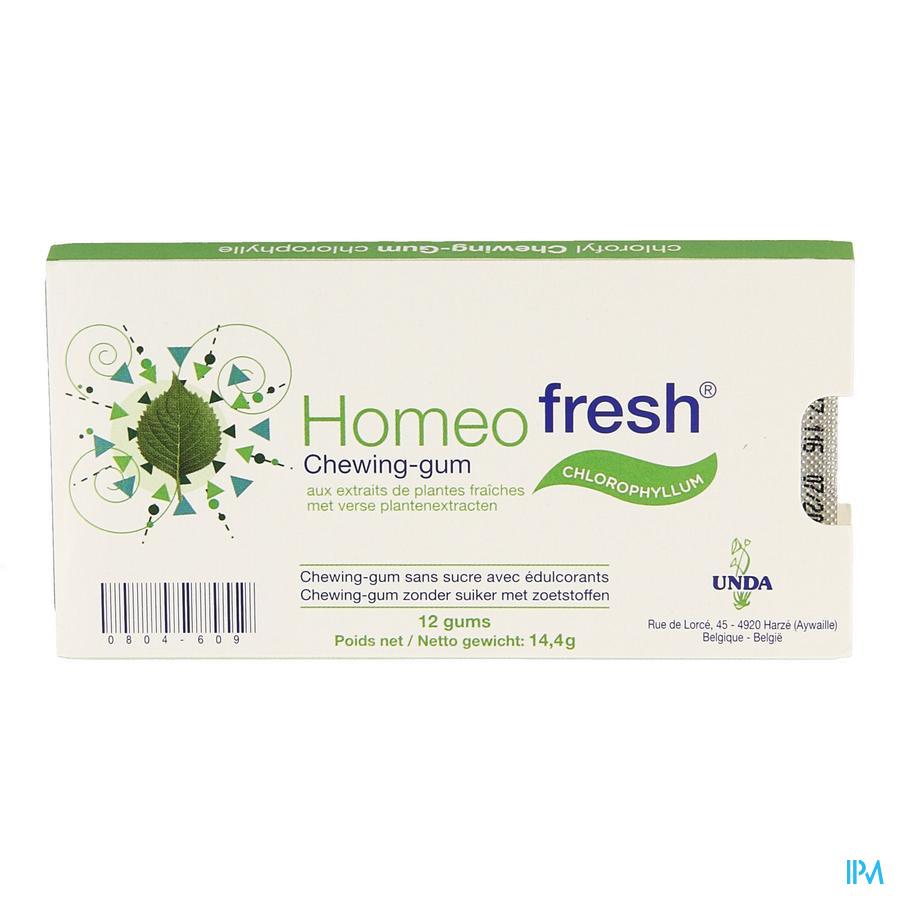 Homeofresh Chew-gum Bioactivum Chloroph. Zs 1x12