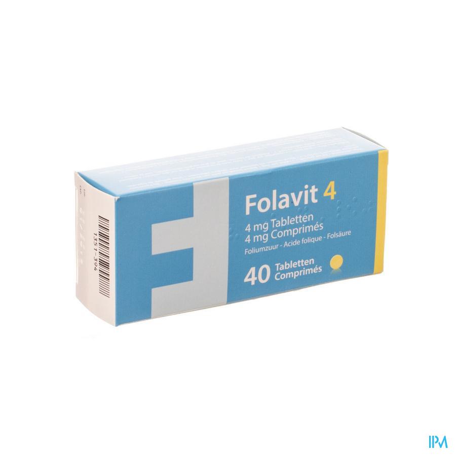 Folavit 4 4mg Comp 40 X 4mg