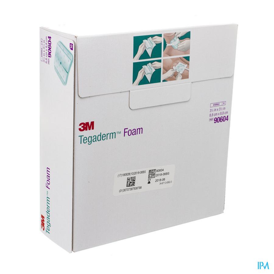 Tegaderm Foam Dressing 8,9x 8,9cm 10 90604