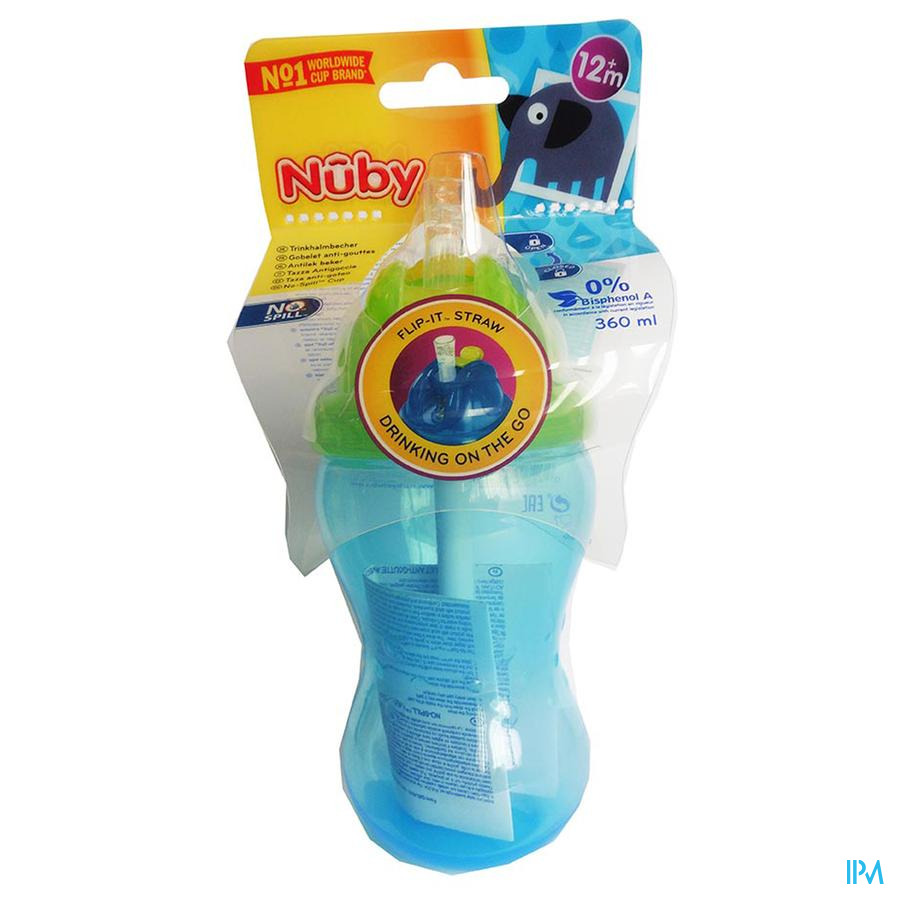 Nûby Flip-It™ antilekbeker – 360ml - 12m+
